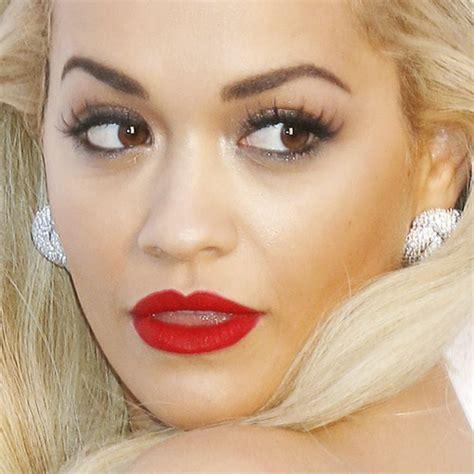 what lipstick does rita ora wear rita ora makeup black eyeshadow taupe eyeshadow red