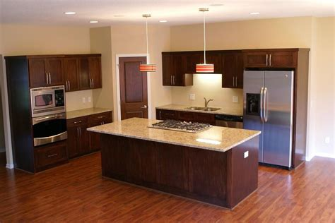 poplar kitchen cabinets custom stained poplar kitchen by bergstrom cabinets inc