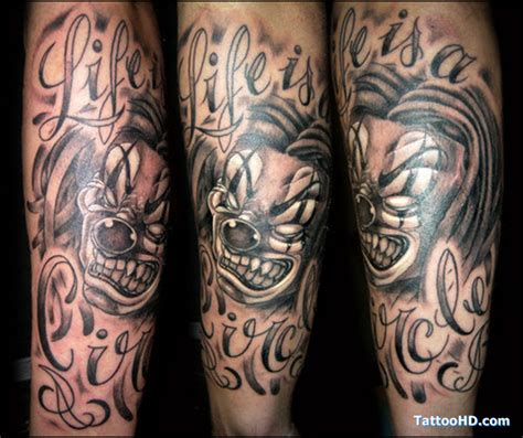 gangsta clown tattoo designs gangsta images designs