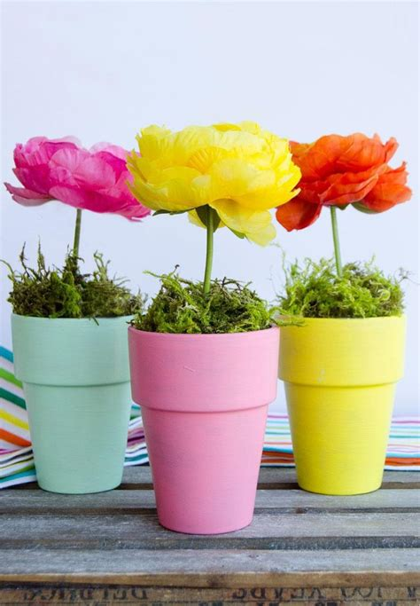 flower pot craft centerpiece by lindi haws of love the