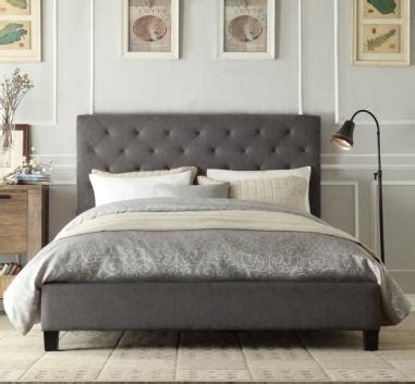 your new sized bed italian design new chester size grey quality fabric
