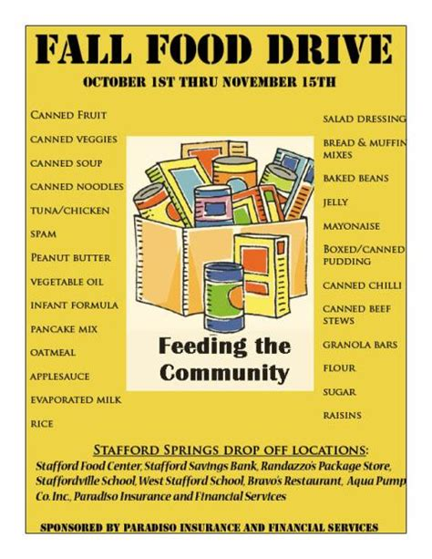food drive flyer template community food drive flyer images