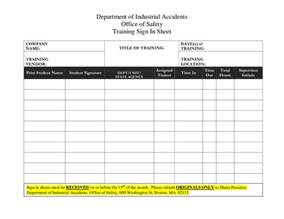 Vendor Sign In Sheet Template best photos of sign in sheet template safety