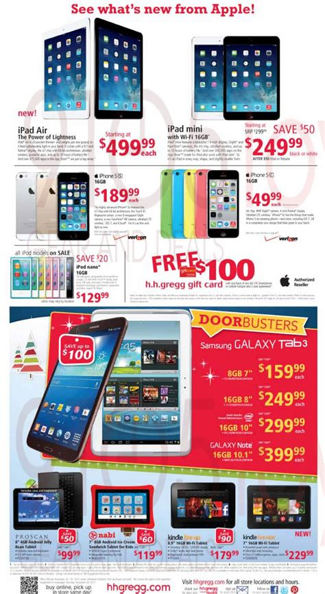 Hhgregg Rebate Gift Card - black friday h h gregg ad leaks w 249 ipad mini big deals on tvs cameras