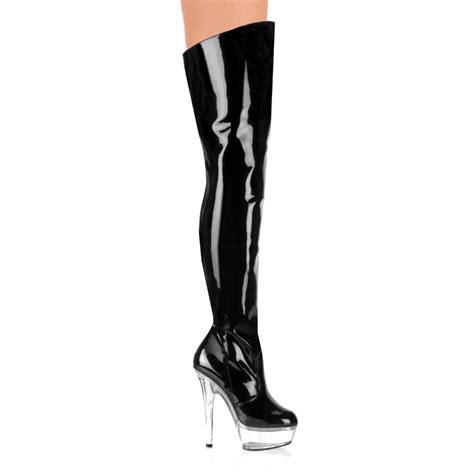 womens boots demonia 3010 black thigh boot
