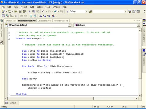 coding visual basic exles what s new for office 2003 developers