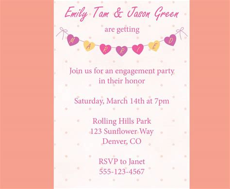engagement invite templates how to word engagement invitations microsoft word