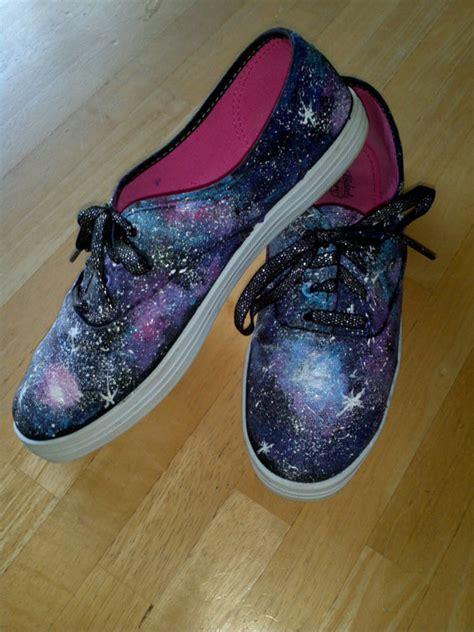 galaxy shoes handpainted sneakers bigdiyideascom