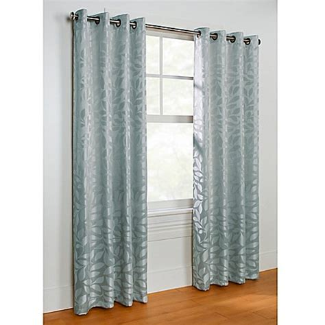 steel blue curtains buy commonwealth home fashions hammered leaf 63 inch