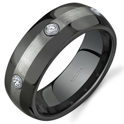 wedding ring gallery 3 8 mm comfort fit mens black