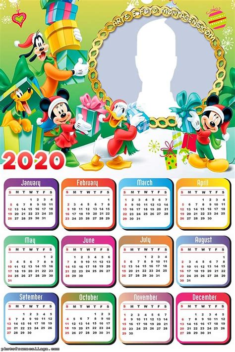 christmas frinds mickey mouse calendar  photo frame collage