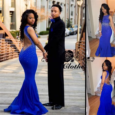 Jaket Special Bolak Balik Blue Pink royal blue mermaid beadings prom dress 2016 open back products 27dress