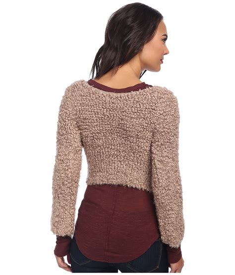 Sweater Marshmello free marshmallow surplice pullover sweater in brown lyst