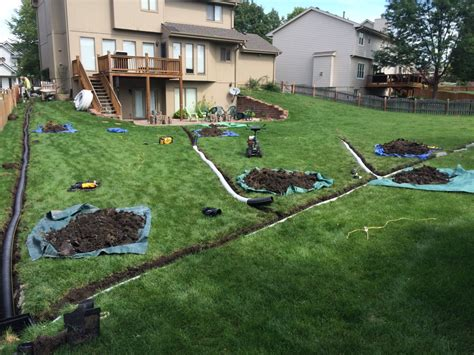 backyard water drainage solutions interior exterior remodeling omaha our work