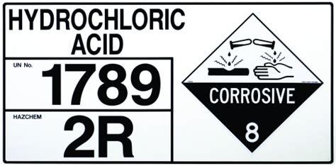 Hydrochloric Acid Shelf by Sign Hazchem Storage Hydrochloric Acid