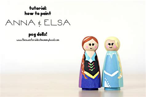 anna and elsa doll house peg dolls how to paint anna and elsa plushie patterns