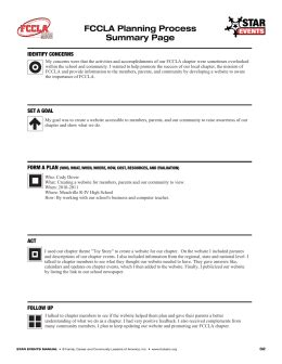Fccla Planning Process Worksheet Fccla Planning Process Template