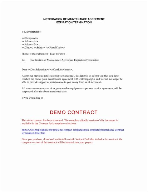 contract renewal cancellation letter contract letter cancellation sle best of independent