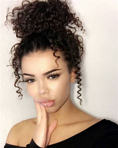 hairstyles for thin hair on head 1000 ideas about messy curly bun on pinterest curly bun
