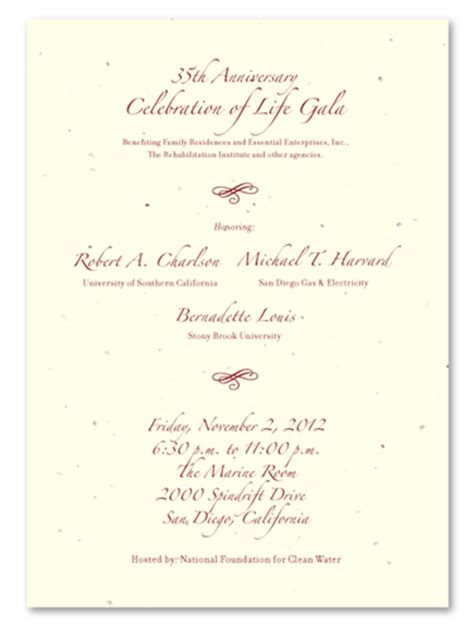 Fundraising Letter Invitation Script Gala Invitations Fundraising By Green Business Print