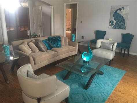 pier one tables living room turquoise teal peacock contemporary modern living room