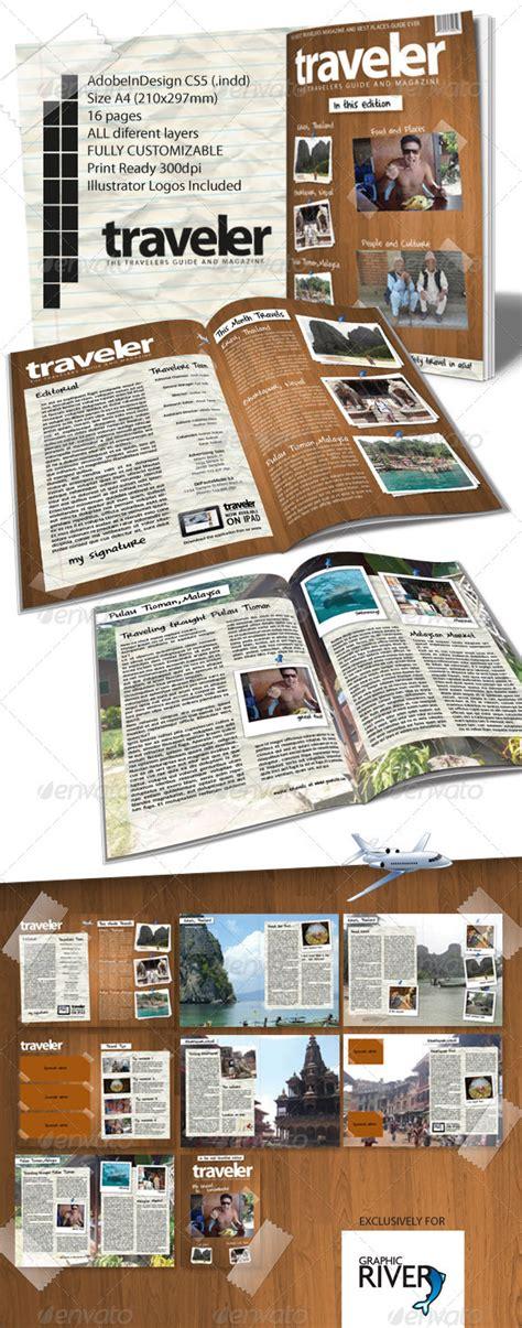 magazine layout envato traveler magazine indesign template by depautamadre