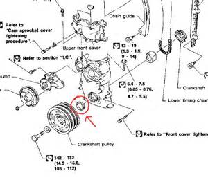 is there a spacer the crank pulley nissan forum nissan forums