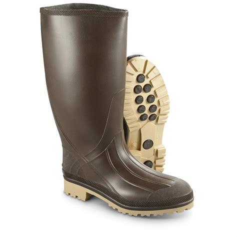 waterproof rubber boots for new u s surplus waterproof rubber boots brown