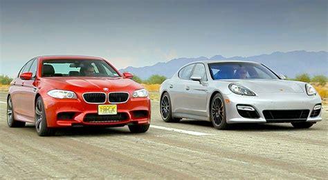 Bmw Vs Porsche by Bmw M5 Vs Porsche Panamera Gts Insanegarage