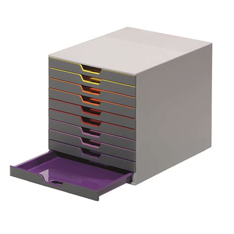 durable office products 7610 10 drawer desktop organizer