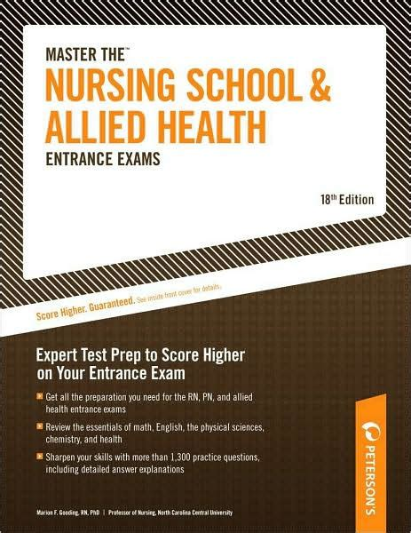 Nursing School Test by Master The Nursing School And Allied Health Entrance Exams