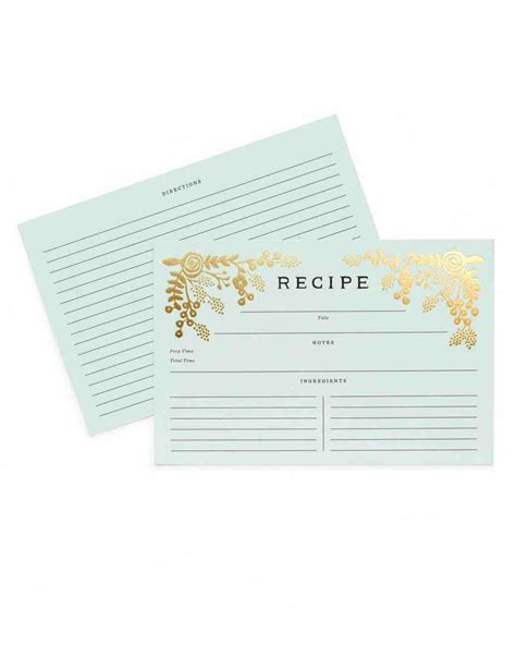 printable recipe card templates martha stewart 10 recipe cards that are pretty enough to become bridal