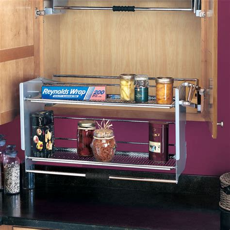 kitchen cabinet shelving systems rev a shelf premiere quot pull shelving system for