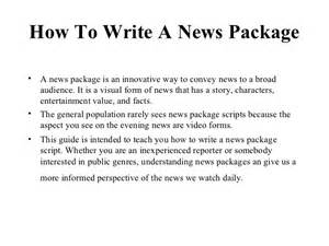 Writing A News Report Ppt by How To Write A News Package