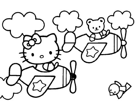 hello kitty airplane coloring page free airplane coloring pages az coloring pages