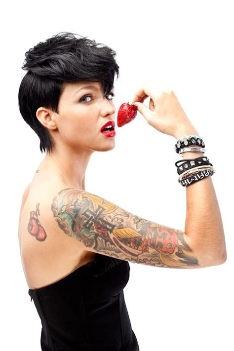 ruby rose tattoos pictures images pics photos of her tattoos