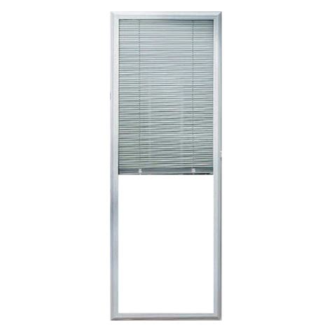 add on enclosed blinds for doors shop odl 0 59 in cordless white aluminum light filtering