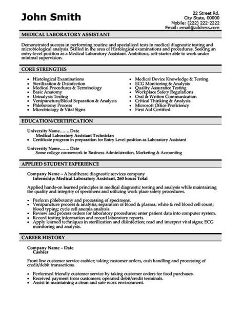 Resume Sle For Lab Technician sle resume for lab assistant 28 images sle resume for