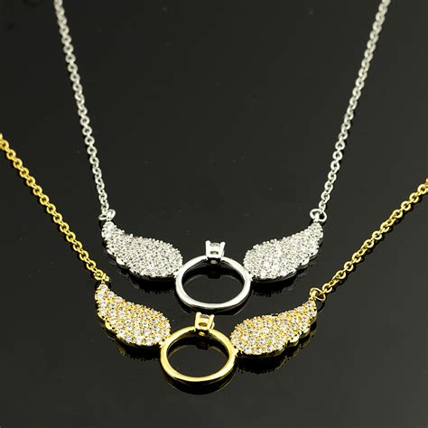 Choker Pearly Wings Choker gorgeous tale gold color cz wing necklace statement choker necklace vintage