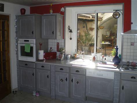 cuisine en chene repeinte peinture pour meuble de cuisine en chene repeindre meuble