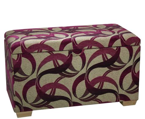 blanket boxes ottomans planay swirl upholstered bedroom ottoman blanket box