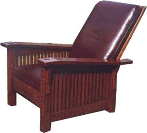 Reclining Morris Chair by Voorhees Craftsman Mission Oak Furniture Gustav Stickley