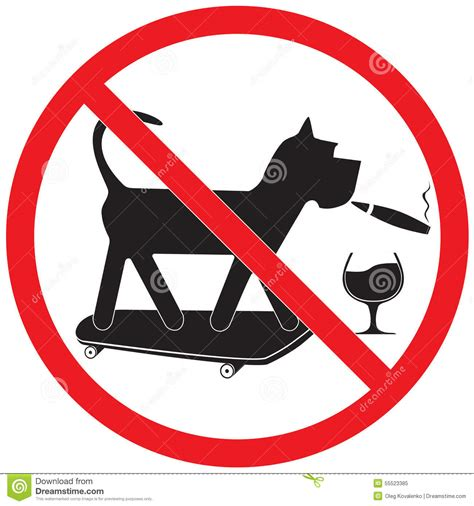 no smoking sign dog forbidding sign stock vector image 55523385