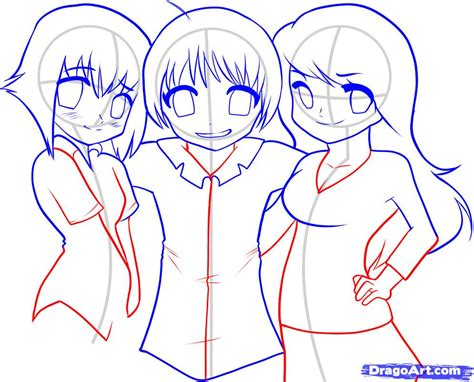 Blouse Not To Draw how to draw japanese anime step by step anime characters