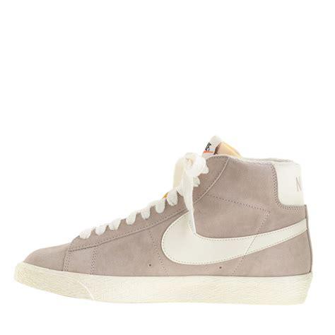 nike blazer high suede vintage sneakers j crew preorder nike blazer high suede vintage sneakers in