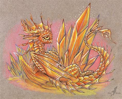 fire crystal dragon by alviaalcedo on deviantart