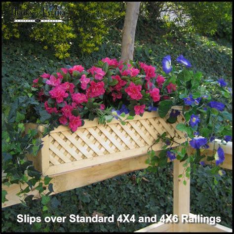 Window Boxe - lattice rail flower box is a superb addition to decks
