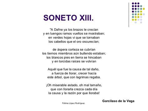 imagenes sensoriales del soneto xxiii comentario de texto a dafne