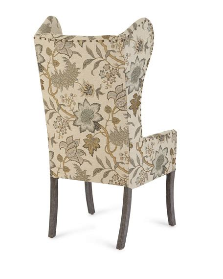 wing chair dining table furniture floral wing chair julissa banquette