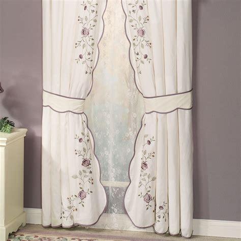 vintage window curtains vintage bloom embroidered window treatments